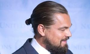 leonardo dicaprio hair bun